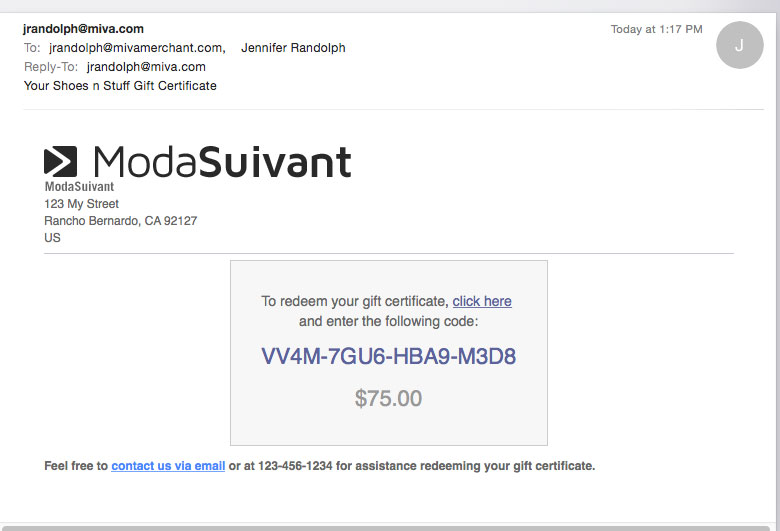 Miva Docs: How To Guides | Modify the GC EMail Template