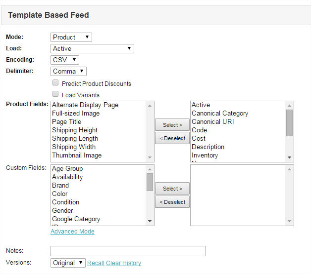 Miva Docs: How To Guides   Feed Management