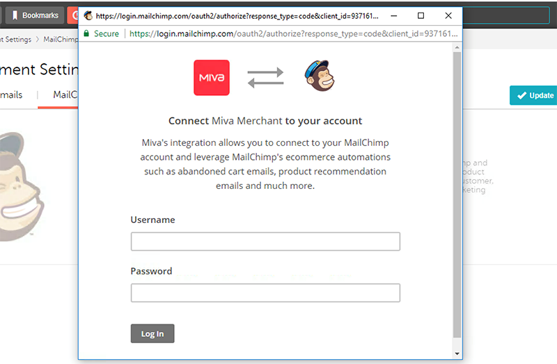 Miva Docs: How To Guides | MailChimp