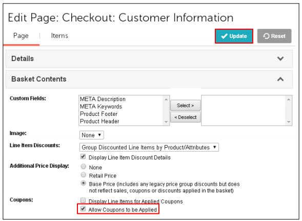 Reference Guide Marketing Coupons