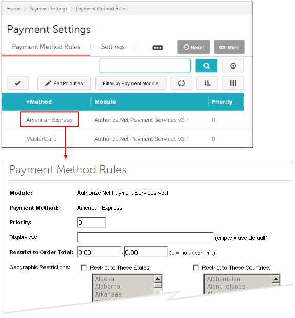 reference guide payment types of payment options rh docs miva com